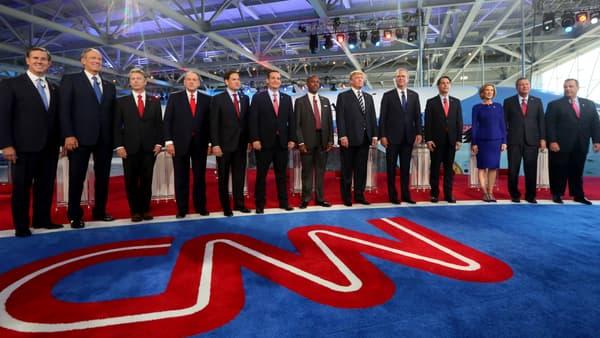 Les onze participants au débat, et candidats à la primaire républicaine, le 16 septembre.