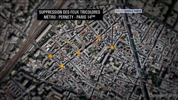 Dans le 14e arrondissement, sept feux tricolores vont être supprimés.