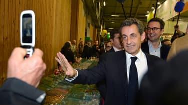 Nicolas Sarkozy au Salon de l'Agriculture, le 25 février 2015.