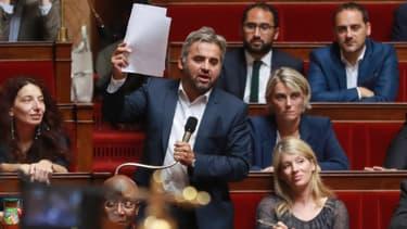 Le député France Insoumise Alexis Corbière, le 26 juillet 2017 à l'Assemblée nationale à Paris.