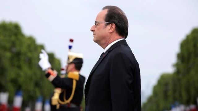 François Hollande lors du défilé du 14-juillet.