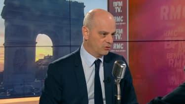 Jean-Michel Blanquer, ministre de l'Éducation, au micro de Jean-Jacques Bourdin