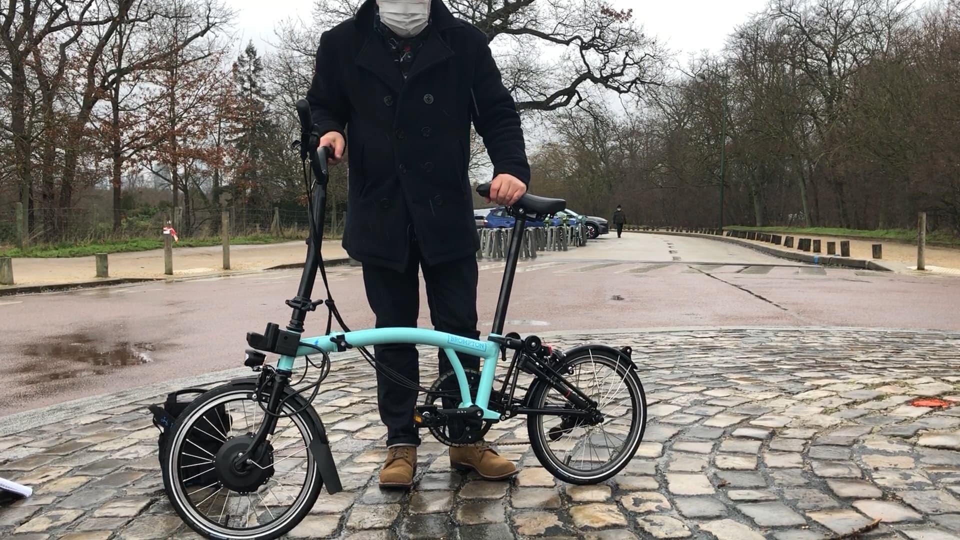 """Nous avons testé le Brompton Electric, le vélo pliant """"made in London"""""""