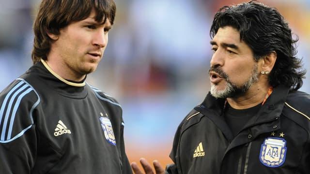 Lionel Messi et Diego Maradona
