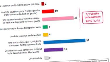 Le FN fait un bond en avant dans les intentions de vote pour le 1er tour des municipales 2014, profitant d'un tassement à gauche comme à droite.