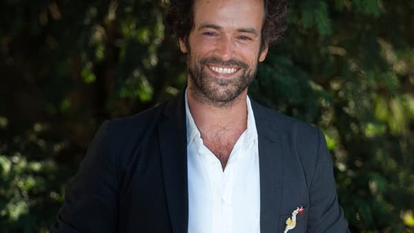 L'acteur Romain Duris au festival du film francophone d'Angoulême, en août 2016.
