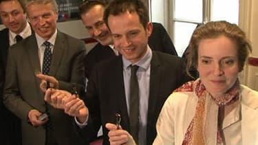 Les quatre candidats à la primaire UMP pour les municipales à Paris.