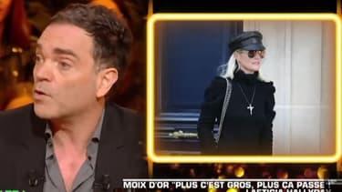"Yann Moix dans ""Les Terriens du Samedi"""