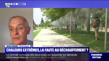 """Pour le climatologue Jean Jouzel, les canicules actuelles plus longues et intenses sont """"associées au réchauffement climatique"""""""