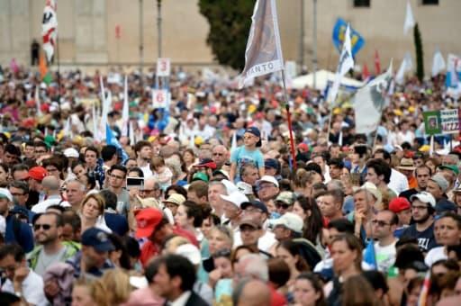 Manifestation à Rome contre le mariage homosexuel et la théorie des genres à l'école, le 20 juin 2015