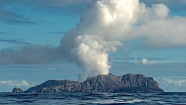 Éruption de White Island, le 9 décembre 2019.