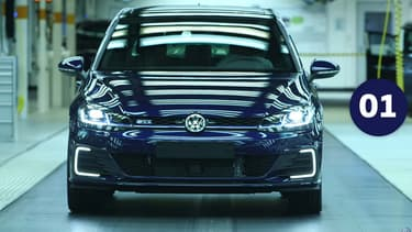 Volkswagen a produit depuis 1945 150 millions de véhicule, et cette Golf GTE (hybride rechargeable) qui porte le numéro 150 millions.