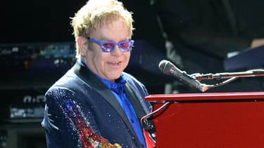 Elton John, en concert à Manchester, le 15 juin dernier.