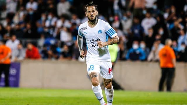 Dario Benedetto lors du match de préparation de l'OM face au Servette FC, le 15 juillet