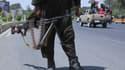 Un soldat des talibans positionné dans la ville d'Hérat, en Afghanistan, samedi 14 août 2021