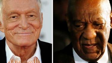 Hugh Hefner et Bill Cosby