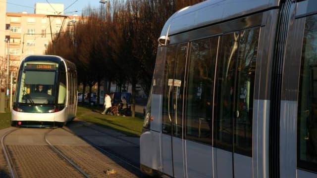Le tram, à Strasbourg