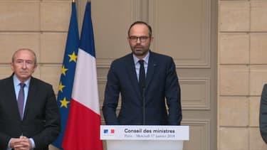 Le Premier ministre lors de la conférence de presse sur Notre-Dame-des-Landes.