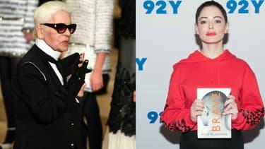 Karl Lagerfeld et Rose McGowan