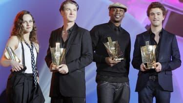 Vanessa Paradis, Etienne Daho, MC Solaar et Renan Luce aux Victoires de la Musique en 2008