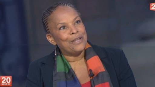 La ministre de la Justice Christiane Taubira sur le plateau de France 2