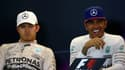 Lewis Hamilton et Nico Rosberg (à gauche)