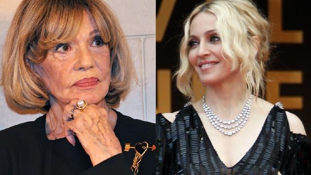 Jeanne Moreau et Madonna
