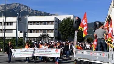 Les salariés de GE/Hydro Alstom à Grenoble