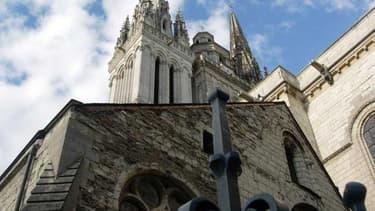 Vue de la cathédrale d'Angers