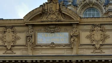 La façade du tribunal de commerce de Paris.