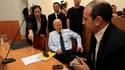 Noam Shalit, le père de Gilad Shalit, dans une salle d'audience de la Cour suprême d'Israël, à Jérusalem. Selon une source israéelienne autorisée, la Cour suprême d'Israël a donné lundi soir son feu vert à l'échange de prisonniers avec le Hamas qui doit a