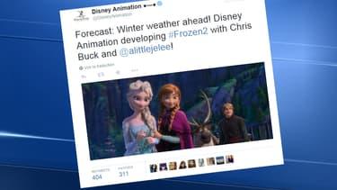 Diseny Animation a tweeté la nouvelle jeudi: il y aura un Reine des neiges 2.