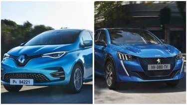 Les nouvelles Renault Zoé et Peugeot e-208 ont su séduire les Français en ce début d'année mais il s'agit surtout de commandes passées fin 2019 pour profiter de l'ancien bonus.