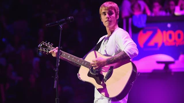 Justin Bieber sur scène lors de son concert au Madison Square Garden à New York en 2016