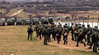 La base militaire de Perevalnoyia occupée par l'armée russe