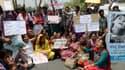 Manifestation à New Delhi, samedi, après un nouveau viol, celui d'une fillette de cinq ans.