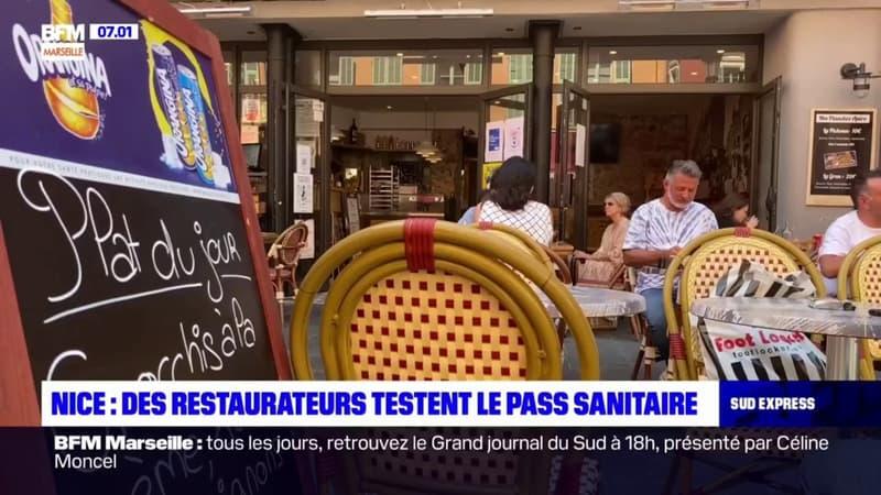 Nice: des restaurateurs testent pendant deux jours le pass sanitaire