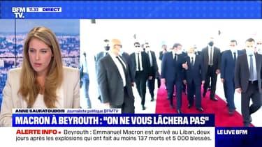 """Macron à Beyrouth: """"le Liban n'est pas seul"""" (2) - 06/08"""