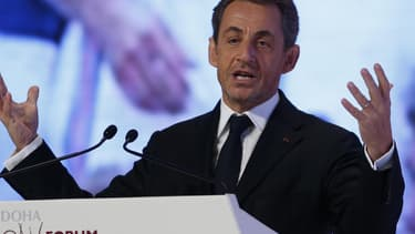 Nicolas Sarkozy à Doha, au Qatar, en décembre 2012.