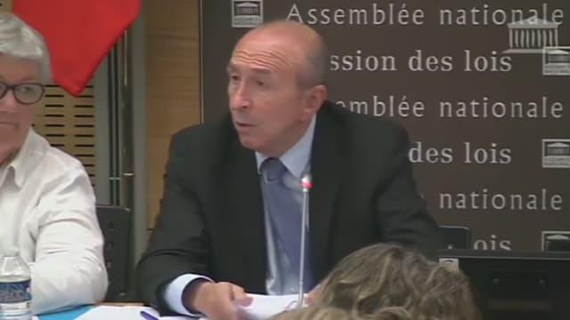 Gérard Collomb mardi soir devant la Commission des lois de l'Assemblée.