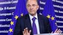 Le ministre de l'Economie et des Finances Pierre Moscovici à Bruxelles. La France a assuré lundi les autorités européennes de sa volonté de tenir ses engagements en matière de réduction des déficits publics tout en soulignant, au moment où la Commission l