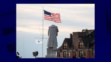 Une statue de Christophe Colomb décapitée à Boston