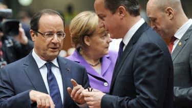 """Angela Merkel, François Hollande, David Cameron et les 25 autres dirigeants de l'UE se retrouveront ensuite entre eux pour """"débattre de la situation en Ukraine."""