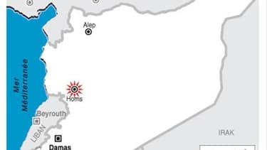 L'ARMÉE SYRIENNE BOMBARDE HOMS