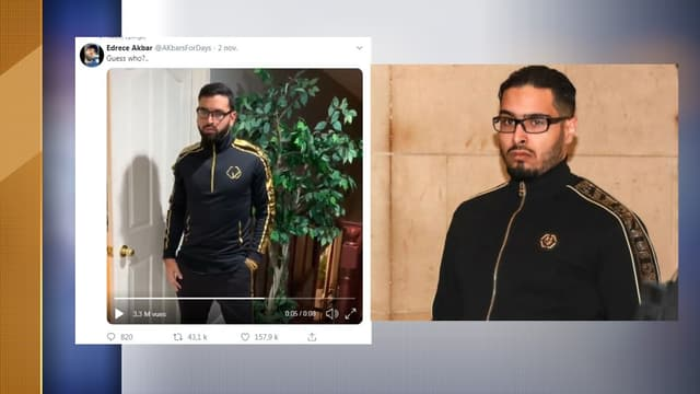 Jawad Bendaoud à droite et son imitation à gauche