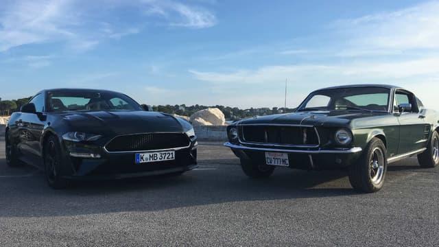 La Mustang Bullit, ou le véhicule mythique du film réinventé par Ford sur la dernière génération de la Pony car.