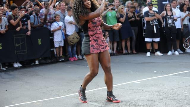 Serena Williams en démonstration dans les rues de New York