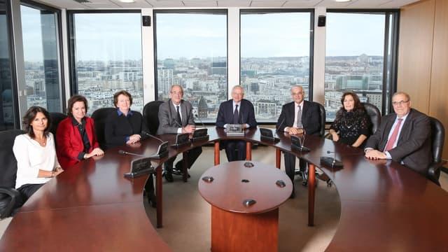 Le collège actuel de huit membres, qui va passer à sept fin janvier