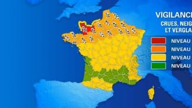 27 départements sont placés en vigilance orange, et deux autres en alerte rouge.