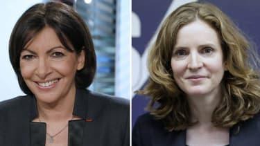 Les deux candidates à la mairie de Paris, Anne Hidalgo et Nathalie Kosciusko-Morizet.
